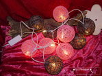 10 cotton ball light string lights