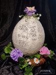 Easter wreath egg decor ornament flower