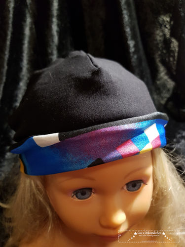 Reversible beanie multicolored black all sizes Beanie