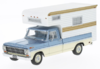 Ford F-100 Camper 1968 metallic-lightblue/beige 1:43