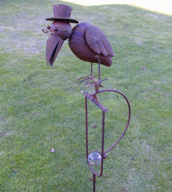 Jardin Figure de Pendule Balance Corbeau 1,40m H.Décoration en Métal ...