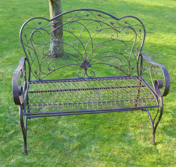 gartenbank sitzbank antik nostalgie landhausstil metall gartenm bel neu fl4 ebay. Black Bedroom Furniture Sets. Home Design Ideas