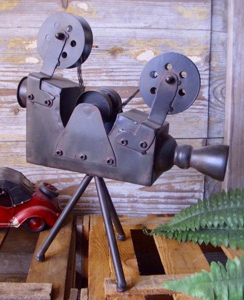 deko filmkamera 20er 30er jahre antik stil kino cinema metall kamera film neu ebay. Black Bedroom Furniture Sets. Home Design Ideas