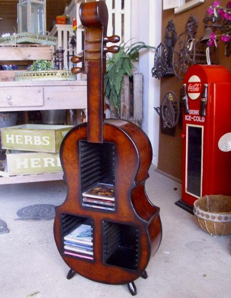 cd st nder cello holz 1m hoch cello regal holz antik landhausstil klassik neu ebay. Black Bedroom Furniture Sets. Home Design Ideas