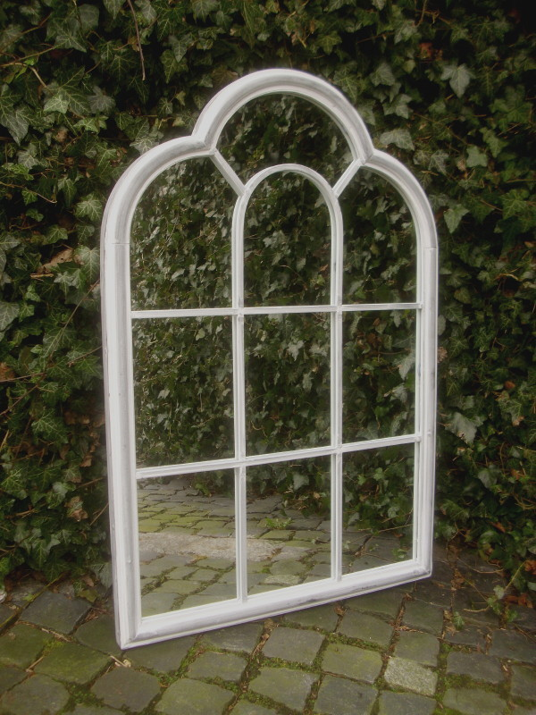 spiegel fenster 93cm ruinenmauer antik landhausstil spiegelfenster garten metall ebay. Black Bedroom Furniture Sets. Home Design Ideas