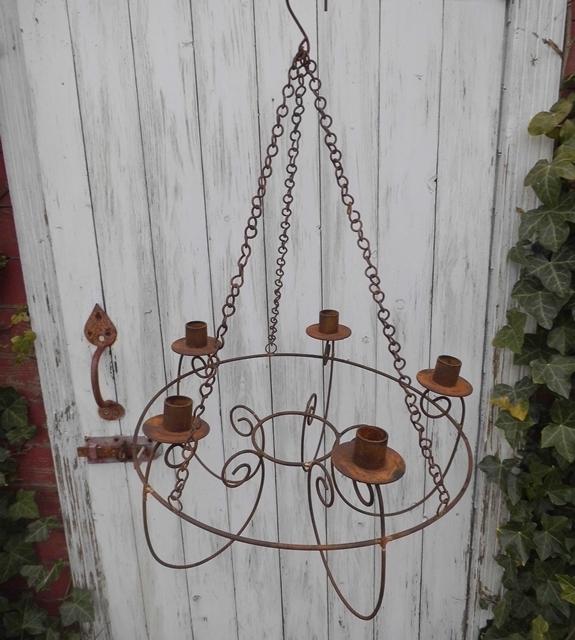 Rost leuchter kronleuchter beekmann s interieur for Gartenaccessoires rost