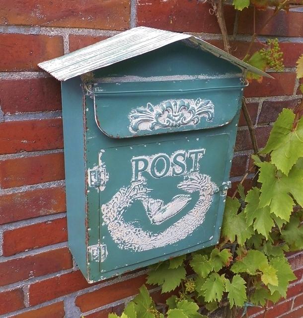 Briefschlitz gro/ßer Posteinwurf Briefkasten-Schlitz Antikas aus Antik-Eisen Post
