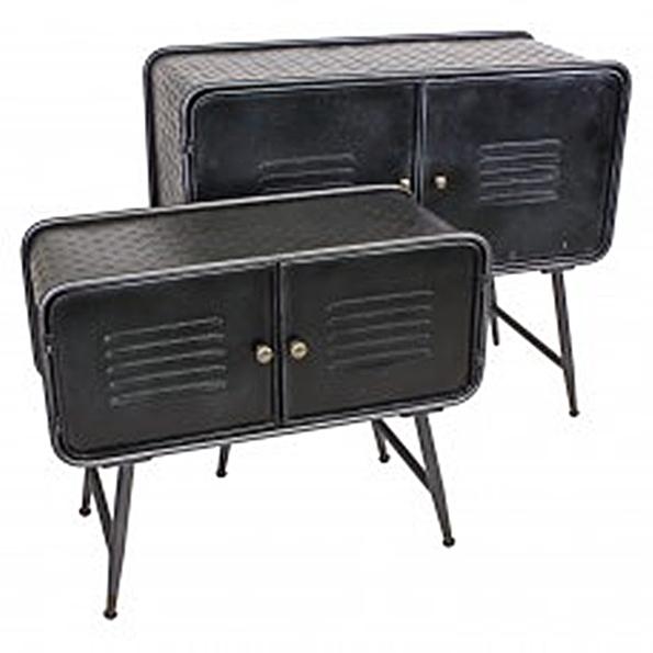 Vintage Spind Kommode 70cm L Breit Metall Retro Industrie Stil