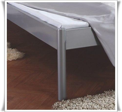 metallbett futtonbett doppelbett jugendbett lido silber 140x200 cm neu ebay. Black Bedroom Furniture Sets. Home Design Ideas