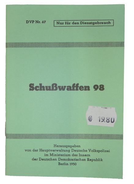 Bedienungsanleitung Handbuch Fur Schusswaffen 98 Gewehr 98 Und Karabiner K98 Schwaben Arms Gmbh Onlineshop
