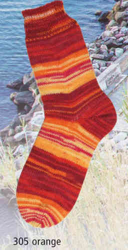 Fortissima Mediterran Color 305 orange, Schoeller&Stahl