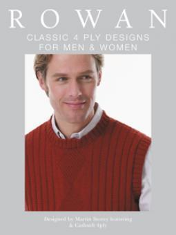 Classic 4ply Designs for Men and Women, Rowan - Strickheft mit deutschen Anleitungen