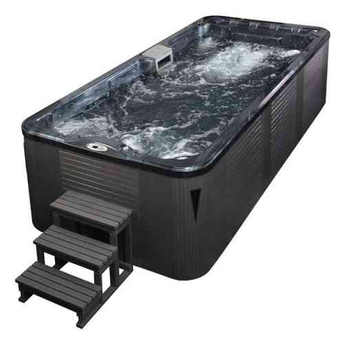 EO-SPA Aussenwhirlpool SWIM SPA Aquacise 5.2 Pearl Shadow/520x230/grau