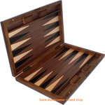 Backgammonoard Backgammon Walnuss Wurzelholz made in greece