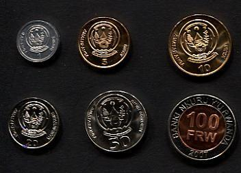 Set 1 - 100 = 6 Pieces Coins