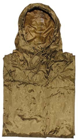 US Poncho ; Rip Stop ,coyote tan,