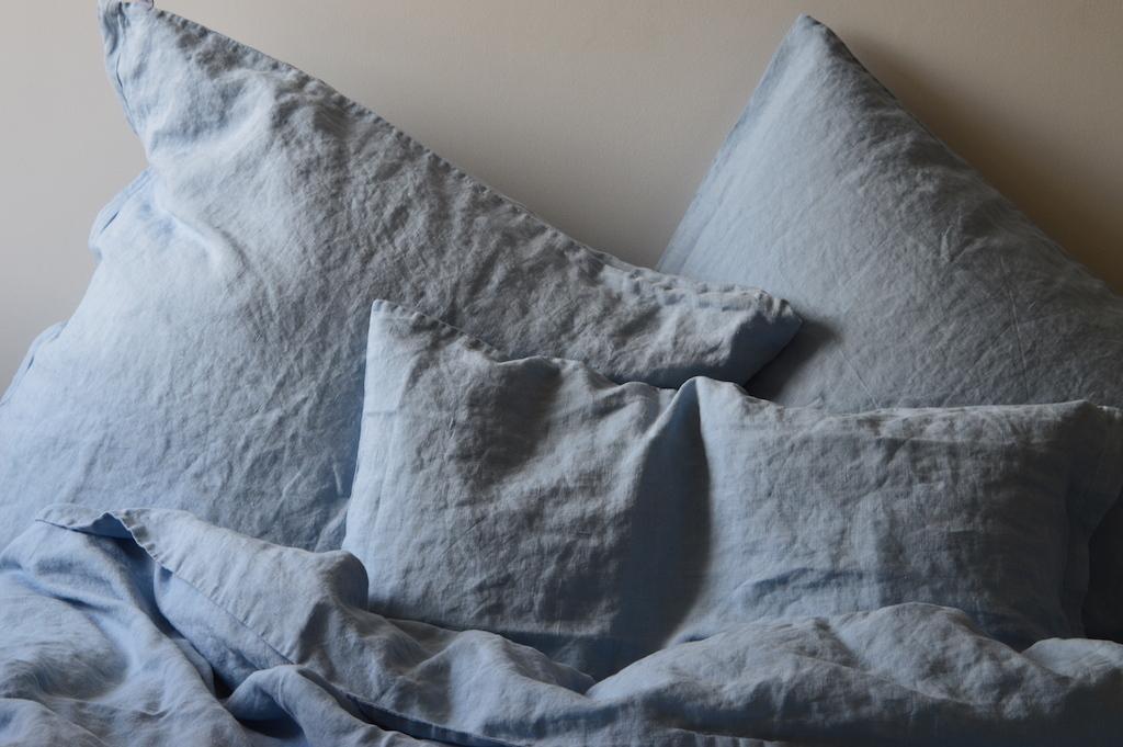 leinen kissenbezug laima hellblau 40x 80 cm 40x 60 cm. Black Bedroom Furniture Sets. Home Design Ideas