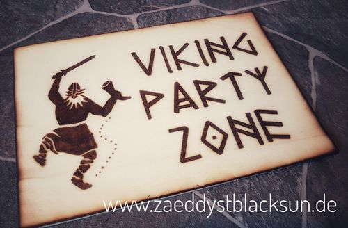 Türschild Viking Party Zone