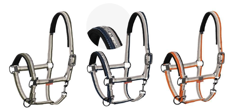 ESKADRON Headcollar STRIPED Platinum 2019