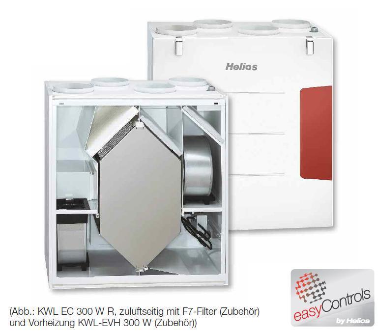 Favorit Helios Lüftungsgerät KWL EC 300 W ET L Nr. 4235 NEU Aktionspreis VW55