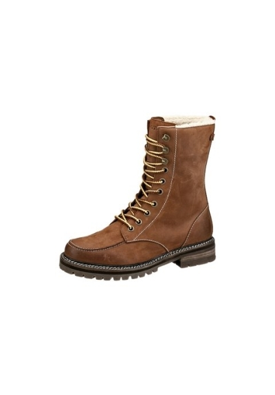 marco polo damen herren stiefel bootie boot boots schuhe cognac schn rstiefel ebay. Black Bedroom Furniture Sets. Home Design Ideas