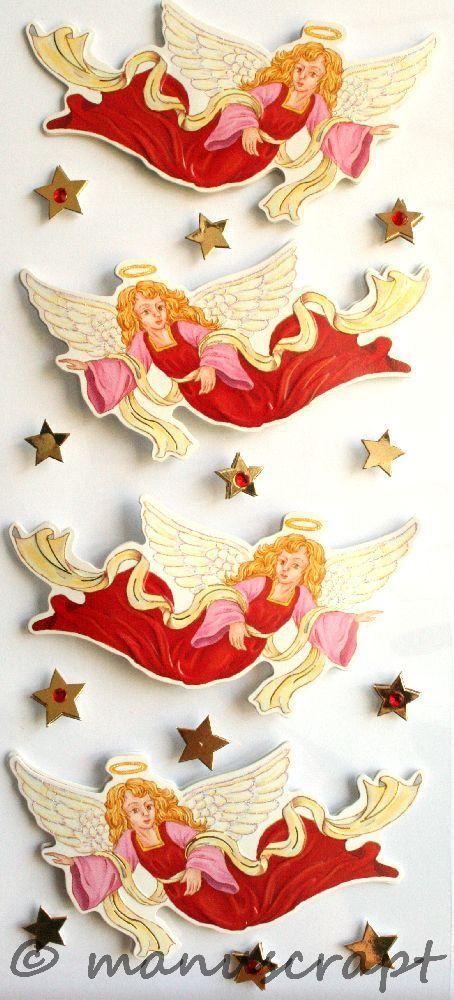 22 x Engel Aufkleber//Sticker Deko,basteln,Fenster,Wand,Weihnachten,Winter Silber