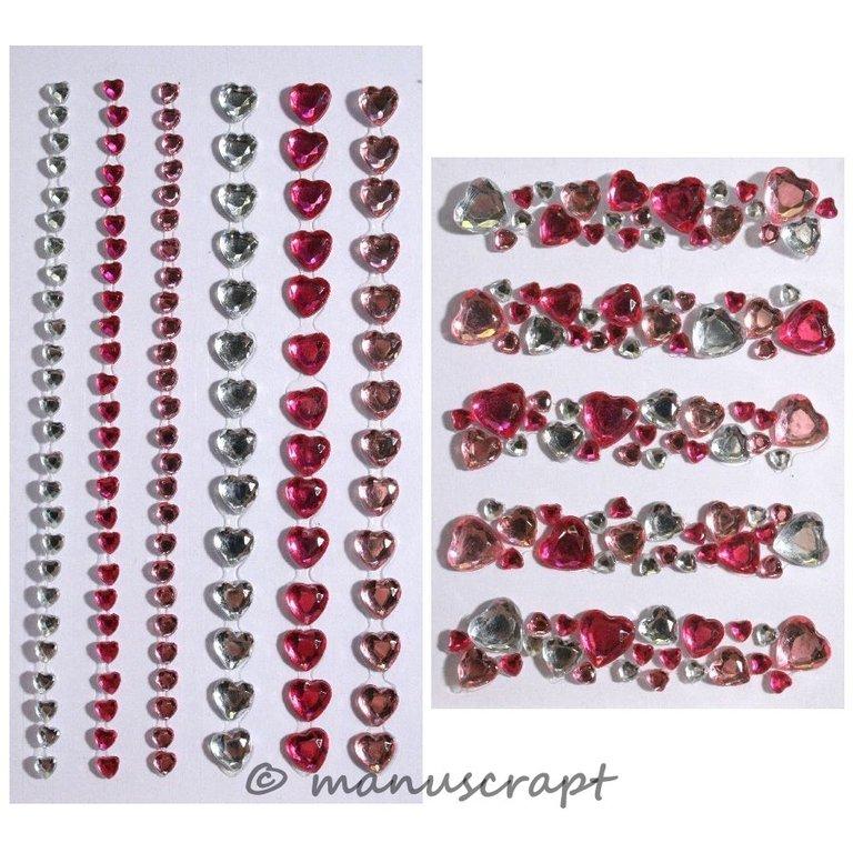 rosa kristall Combo Cluster Artoz Artwork Sticker Herz