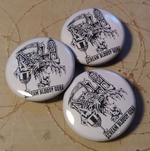 Death - Scream Bloody Gore Button