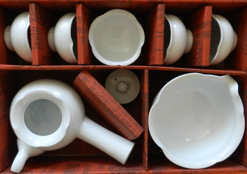 Beakja Tea service Set for 5 Personen from Ceramik  / 백자 연잎 5인다기