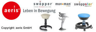 swopper - swoppster - muvman - gesund sitzen mit aeris