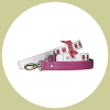 sneak collar- and leash set - white