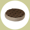polka dog cork pet bed round