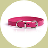 classic leather collar pink