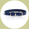 classic leather collar blue