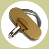 id tag holder gold