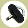 id tag holder black