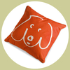 doodle dog kissen orange