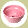 happy cat crock bowl - pink
