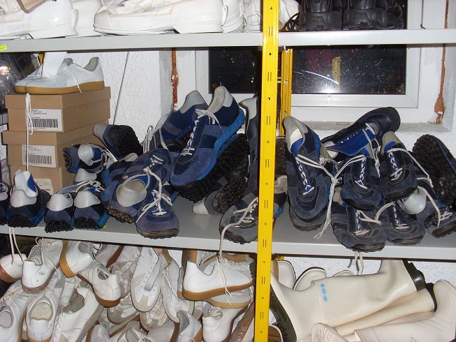 orig. BW Sportschuhe blau (altes Modell) gebraucht