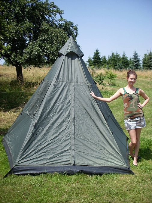 indianer zelt tipi oliv mittelmast gr 290x270x225 cm. Black Bedroom Furniture Sets. Home Design Ideas