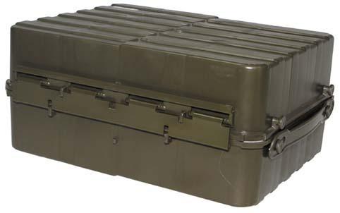 norw transportbox 2 teilig kunststoff oliv neuw. Black Bedroom Furniture Sets. Home Design Ideas