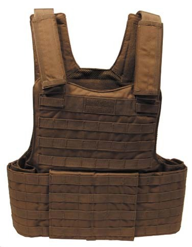 "Weste, ""Molle II"", mit Futter, coyote tan, Modular System"
