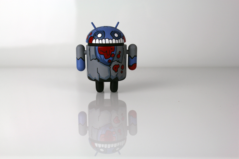 Mostly Harmless Harry Custom Android Grayscale Zombie by Paul Robinson