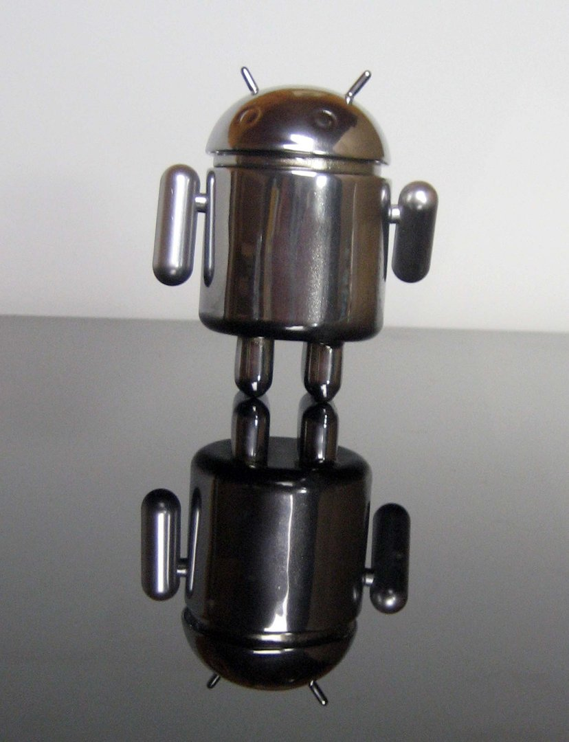Chromed Android collectible