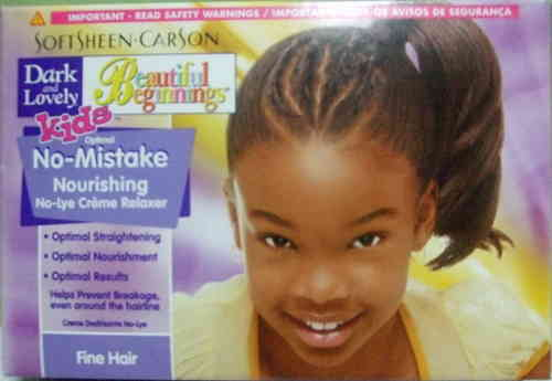 Dark and Lovely Beautiful Beginnings Childrens Relaxer Fine hair
