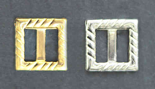 buckles metal square - 8 pc. - gold and silver