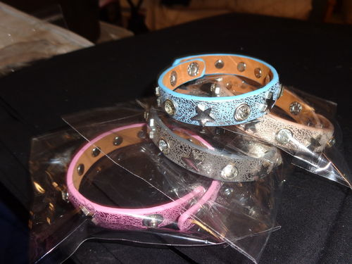 bracelet 4 col. with strass adjustable