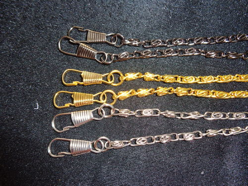 metal chainstrap with hooks, diff. Col. 47""