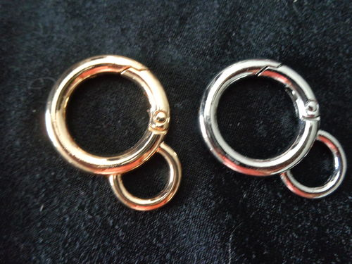 ring with eye gold or silver, 3/4""