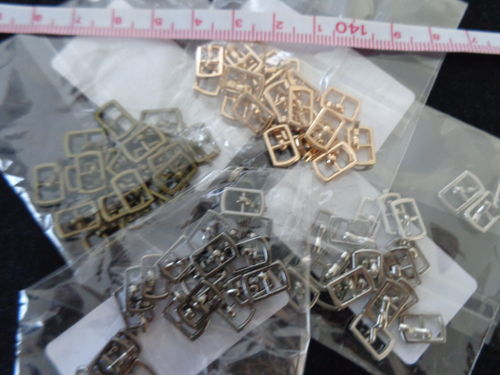 "mini buckle metal 4 col. 3/8""x2/8"" 2pc./pack"